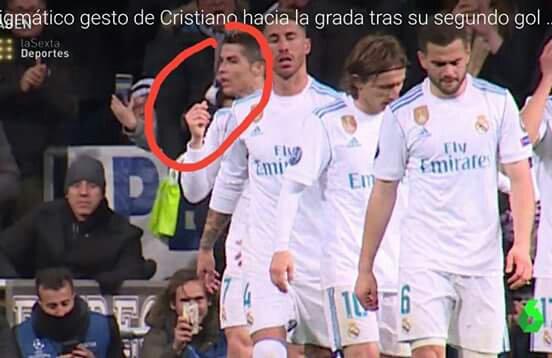 La célébration polémique de Cristiano Ronaldo après son but contre le PSG